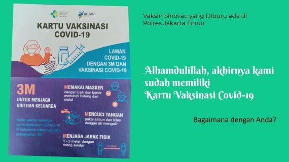 Vaksin Sinovac yang siburu ada di Polres Jakarta Timur